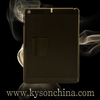 Folio Stand Smart Leather Case Carbon Fiber Leather Case for iPad