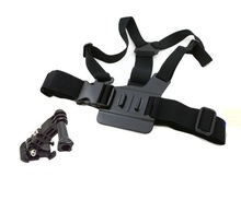 Durable Black Harness Adjustable Chest Body Belt Strap Mount For Gopro HD Hero 2/3