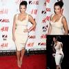 2014 New Fashion Free Shipping White Chiffon U Neck Kim Kardashian Dress Sleeveless COC-0007 white short cocktail dresses