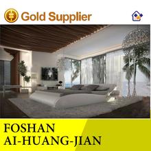 Guangzhou roi taille 180 x 200 mode moderne utilisation de chambre lit en cuir