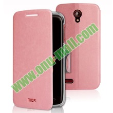 Brand Mofi Leather Mobile Phone Back Cover for Lenovo s820