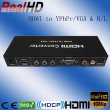 High performance HDMI to VGA converter/ hdmi to ypbpr video converter