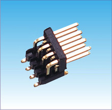 SMT 90 Degree Double Row 2.54mm Pin Header Gold Plated 6 to 72 Pins 4 pin connector male female
