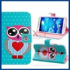 Cute Owl Printed Faux Leather Flip Case with Card Slots & Stand for Samsung Galaxy S4 I9500