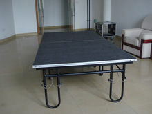 Modular aluminum folding stage,height adjustable stage riser