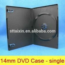 shantou 14mm black pp single/double dvd case/cheap dvd storage