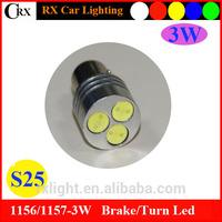 12V car Led Turn Light 1156 3W Single Contact Bayonet Base S25 Light