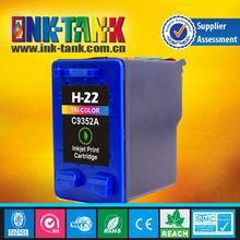 C9352A compatible ink cartridge hp 22 for deskjet printer