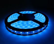 Cheapest 150leds 5m waterproof blue flexible led strip with CE&RoHS 5050 5mm width led strip