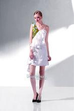 spagetti kayışlar beyaz saten ve yeşil baskılı kumaş kadın kısa elbiseler uzun gelinin annesi elbiseler balo elbise satılık