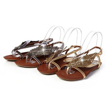 D13604A 2014 LADY SUMMER HIGH-END LEAF GOLDEN LEATHER SANDALS