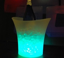 5L round led lighted beer container for drink