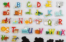 letters fridge magnet with pictures/ custom education fridge magnet