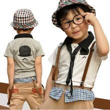 European Kids Summer Clothes Baby Boys Set China Export Clothes