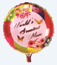 Colorful Printed Custom Helium Balloons For Mother's Day Gift