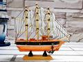 16cm antigo esculpido em madeira modelo barcos