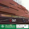 Eco- friendely reciclado e madeira de plástico composto de painéis de parede