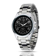 stainless steel back geneva quartz watches