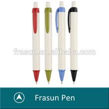 High quality white pen holder click plastic advertising ballpoint pen/pens for advertising/promotional plastic pens