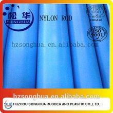 Blue nylon PA6 rod/bar
