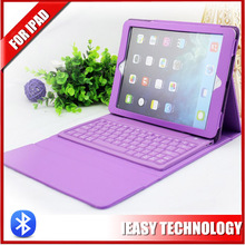 New removable Leather case for ipad air case with bluetooth keyboard