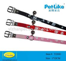 2014 new pet dog products, collar & leash set, paw image