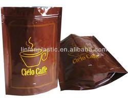 silver aluminum foil zip lock bag/Unprinted resealable aluminum foil packaging bags for dry fruit piece/coffe