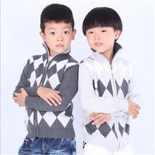 Children's sweater cardigan single zipper unlined upper garment children's wear cotton coat autumn/winter