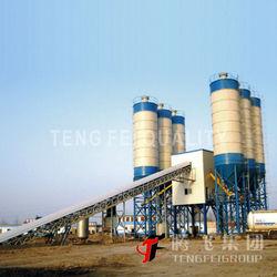 2014 New mobile concrete batching plant for sale HZS120
