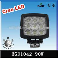 90w cree IP68 7000-7200lm 6500k atv led work light for trucks RGD1042 truck truck trailer