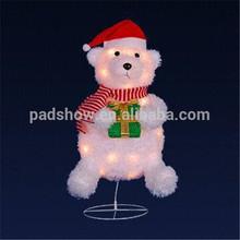 christmas lighting bear shape