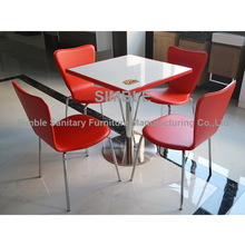 Cheap restaurant Tables / KFC table / fast food table and chairs