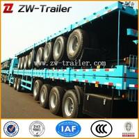 rita 3axle flatbed container semi trailer