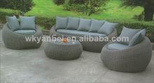 Rattan/Wicker Leisure Gray Rattan Wicker Furniture Sofa Set