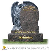 American European style india himalaya blue granite memorials angel heart design himalaya blue granite memorials