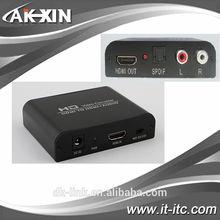 HDMI to HDMI Converter AV CVBS RCA Composite Video to HDMI Converter Adapter Coaxial 3.5mm Audio 720P/1080P HD Video Converter