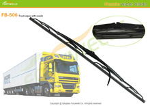 "truck wiper blade for volvo DAF truck, 24"", M10, 728809 9x4mm with washer nozzle"