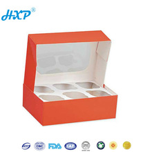 Paper box 1-Layer Grey board Dessert packaging box with partition