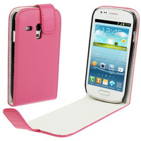 for Samsung Galaxy S3 Mini Gt i8190 Leather Case Leather Pouch Flip Case