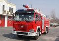 Duplo eixo fogo pesado caminhão da bomba, caminhão de bombeiros