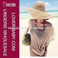 Brown Crochet Fishent Beachwear Top Bikini Cover Up tunique