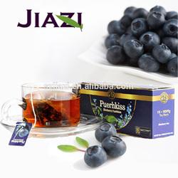 Puer blueberry fruit-flavor tea