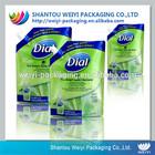 Liquid packaging plastic shampo