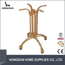 Cast aluminium bamboo look leg under table