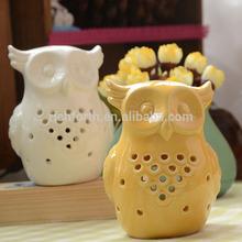 fashion cute ceramic owl shaped candle holder animal candle holder