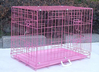48 inch 3 Door Pink Folding Dog Crate Cage Kennel LC ABS