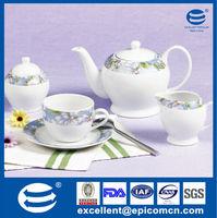 attractively designed tea set in porcelain,ceramic tea set for daily-use,model D1222