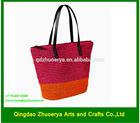 Wholesale crochet paper straw bag 2014 popular straw tote bag