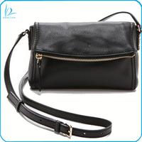 Latest designer style genuine leather ladies crossbody shoulder bag with flap