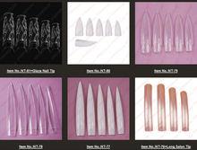 White/Nature Stiletto Square beauty nail tips- NT-80